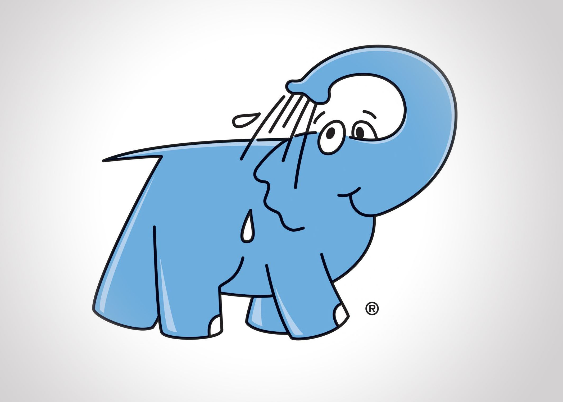 éléphant bleu logotype