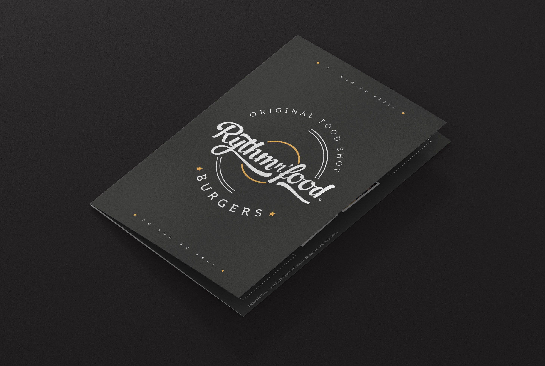 Rythm N'Food - déclinaison print de l'identité graphique - Agence FBSD